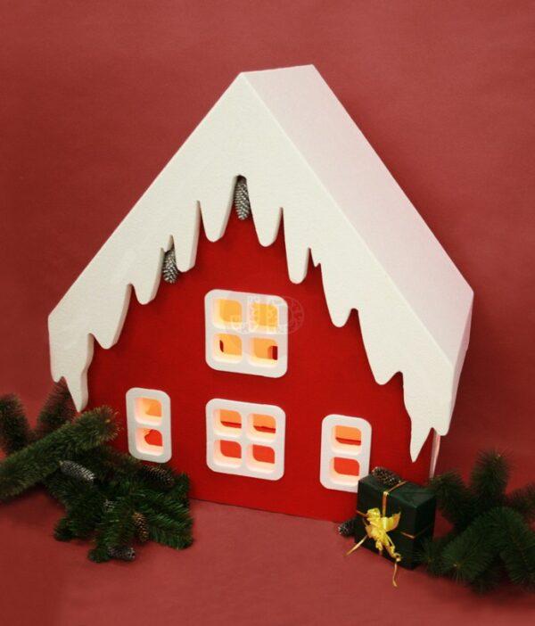 Альпийский домик декор для нового года